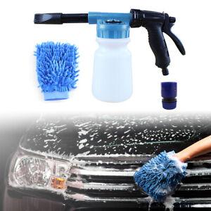 Snow-Foam-Lance-Cannon-Spray-Gun-Kit-Car-Wash-Uses-Hose-Pipe-Sprayer-1L-Bottle