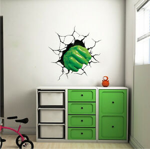 Image Is Loading Hulk Smash Wall Decal Hulk Punch Wall Vinyl