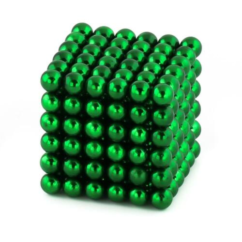 216 MAGNETS COLOURED BALLSBeads Neodymium Magnetic Sphere Cube LUXURY UK
