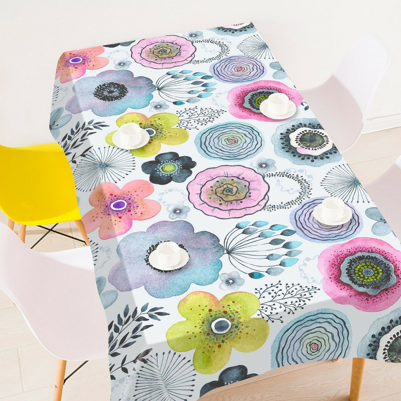 3D Petal Painted 266 Tablecloth Table Cover Cloth Birthday Party Event AJ Summer