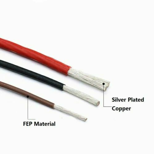 Muilti-Stranded 0.75mm² Silver Plated Copper Cable AF200 High Temp.Signal Wire
