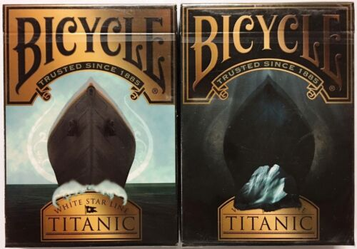 Titanic 2 Deck Set Life & Death Bicycle Playing Cards Poker Size USPCC Limited