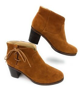 bc3bd270cf9 Details about Wolverine 1000 Mile Samantha Pleet Brown Suede Leather Lace  Ankle Boot Women 7 B