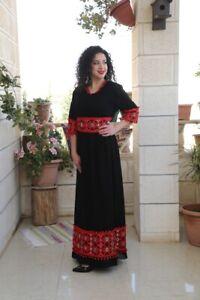 Abaya-thobe-Embroidered-Palestinian-Jordanian-Traditional-Arabic-Dress