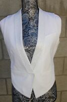 Bcbg Max Azria White Vest With Sequins - Size S -