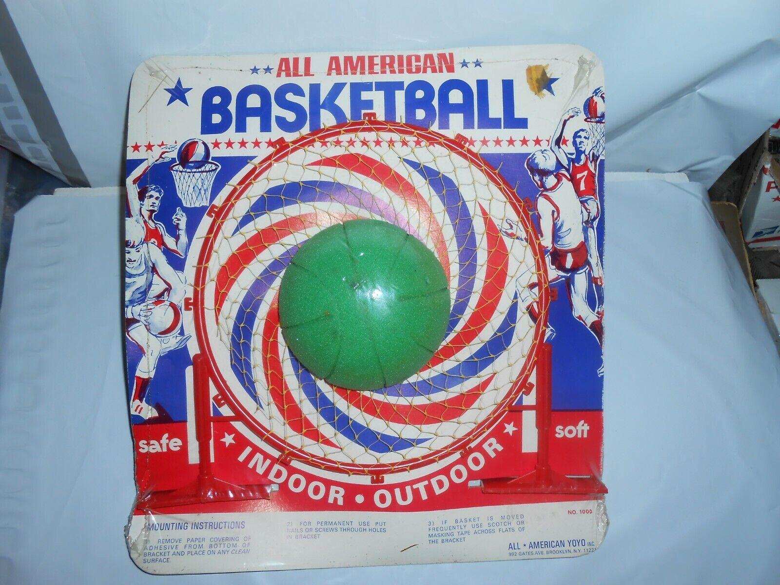 De Colección nos All American Yoyo Inc verde Nerf Estilo Baloncesto & Aro Ultra Raro