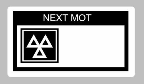 100 x Mot Rappel étiquettes collantes autocollantes pré imprimé