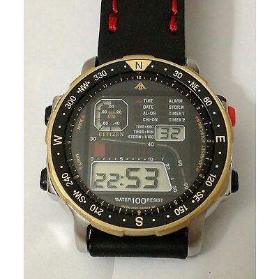 NOS CITIZEN D060-086961 TA Chronograph LCD - perfect watch