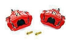 PAIR, NEW '94-'04 Mustang COBRA rear brake calipers, assembled with pads (RED)