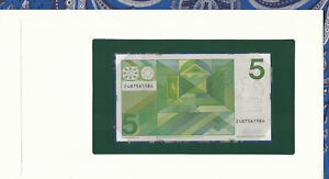 Banknotes of All Nations Netherlands 5 gulden 1973 P 95 UNC Birthday 1984