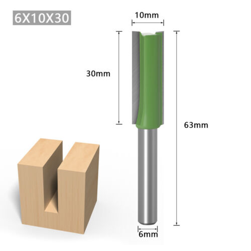 7Pcs//set 6mm Shank Single Double Flute Straight Router Bit For Woodworking
