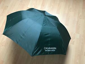 CALVIN KLEIN® - dunkelgrüner Regenschirm– NEU !!! Rarität !! OVP!!!