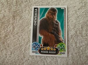 Topps-Star-Wars-Force-Attax-034-CHEWBACCA-034-107-Power-Boost-Card