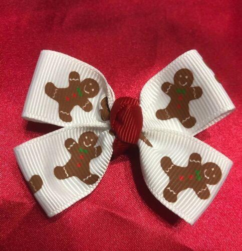 "Magical Baby Hairbows USA SELLER Christmas Gingerbread 2/"""