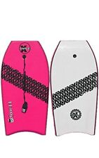 """New Triple X """"The Elixir"""" 42"""" Bodyboard/Boogieboard/Pink/With Coiled Leash"""