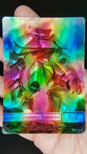1x Construct #4 *FOIL LAMINATED* Custom Altered Token (for Karn, Scion of Urza)