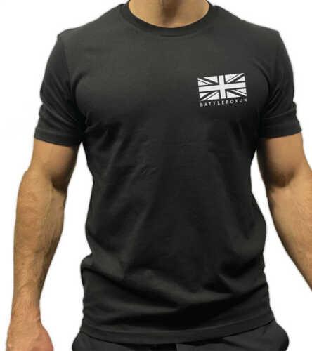 BattleBox UK WOD Union Jack White Logo Short Sleeve T-shirt CrossFit Fitness Gym