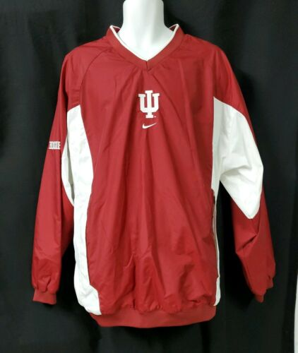 Nike IU Hoosiers V Neck Red Pullover Windbreaker U