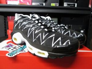 c7189c7565 NEW 2018 NIKE AIR MAX PLUS TN TUNED AJ6311 001 BLACK WHITE ...