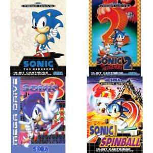 Sega-Mega-Drive-Best-of-Sonic-the-Hedgehog-Zustand-auswaehlbar