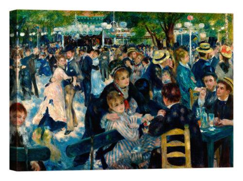 Renoir Dance at Le Moulin de la Galette Stampa su tela Canvas effetto dipinto