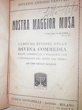 NOSTRA MAGGIOR MUSA Giovanni Antonio Venturi Signorelli 1923 letteratura libro