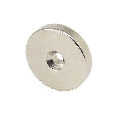 Starker runder Neodym High Tech Magnet 25x5mm N52 mit Loch 11 kg Zugkraft St/ückzahl:1 St/ück Magnetisierung:Nordpol oben