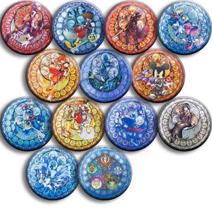 13pcs Anime Kingdom Hearts Sora Riku Kair Ventus Aqua Vanitas Bedge Badge Gift
