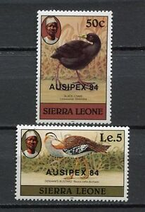 27604) Sierra Leone 1984 MNH New Birds Ovptd Ausipx