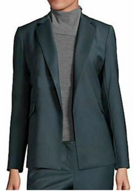 aa880d581ad Theory Sedeia LS Continuous Open-front Sea Blue Wool Blend Blazer Sz 0 for sale  online