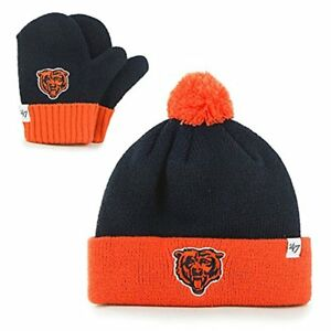 970ccf95 Details about $25 BN NFL Chicago Bears Kids '47 Bam Bam Knit & Mittens Set,  Toddler, Navy