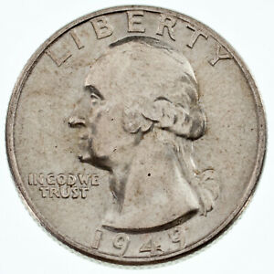 1949-25C-Washington-Quarter-Choice-BU-Condition-Excellent-Eye-Appeal-Luster