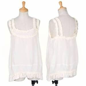 (SALE) COMME des GARCONS Silk ruffle design camisole Size XS(K-30478)