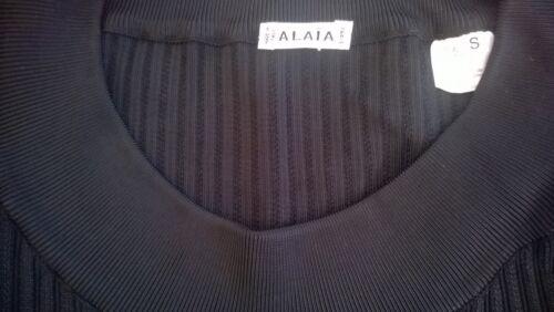 Neuve Non Alaïa Noire Superbe Robe – Chaussette À Manches Portée Longues USROFq