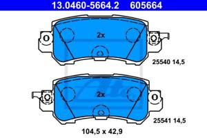 Scheibenbremse ATE 13.0460-5664.2 hinten für MAZDA Bremsbelagsatz