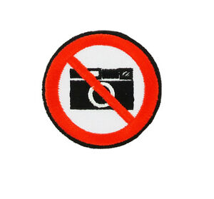 Details about Patch backpack No pictures picture camera sign symbol iron on  glue/sew