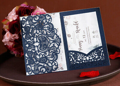 1//5X Christmas Greeting Card Invitation Hollow Santa Xmas Tree Elk Gift Supplies
