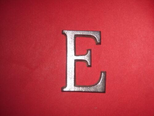 Cast Aluminum Metal Letter E 1 1//4 Roman Font