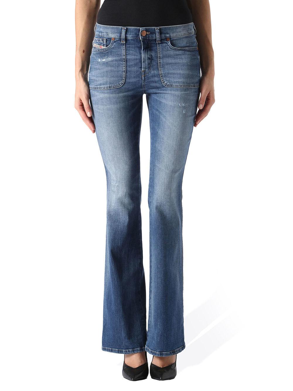 Diesel Sandy-B Toppa 0851X Elasticizzato Jeans Pantaloni women Slim Svasati