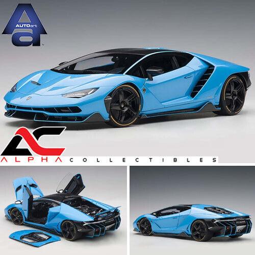 AUTOART 79113 1 18  LAMBORGHINI Centenario (bleu Céphée Pearl bleu) Supervoiture  assurance qualité