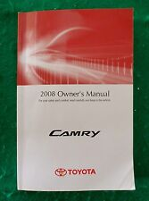 2008 08 Toyota Camry Owners Manual Near New, O10B