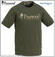 Pinewood Suede T-shirt Khakigrün S-xxl 9445 Grün / Oliv Jagd - Angel Bekleidung