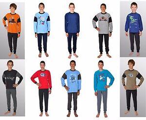 517e2b5d75 Das Bild wird geladen Woerner-Jungen-langer-Schlafanzug -2tlg-Frottee-verschiedene-Modelle-