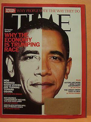 TIME MAGAZINE OCTOBER 20 2008 BARACK OBAMA SPECIAL REPORT 10 20 2008
