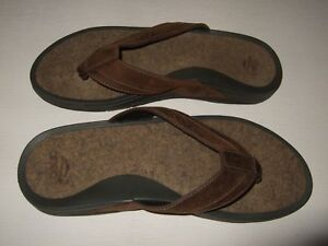 b57776e72e5 Walking Company Abeo Avalon Brown Thong Flip Flop Sandals Mens Size ...