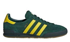 adidas-Turnschuh-JEANS-CQ2767-Gruen-Gelb-Schnuerschuhe-Herrenschuhe-Halbschuhe-neu