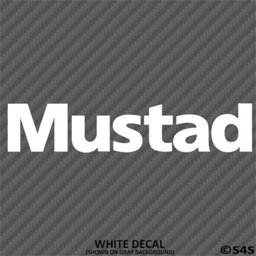 Mustad Fishing Hooks Outdoor Sports Vinyl Decal Sticker Choose Color//Size