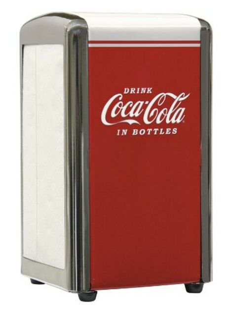 TableCraft Drink Coca Cola Napkin Dispenser Full TableCraft Products