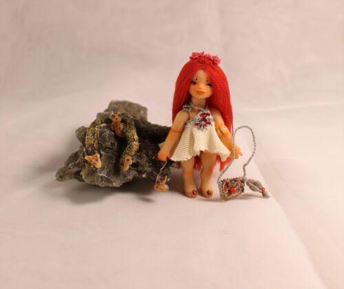 Miniature 1:24 Little Foxberry OOAK BJD art doll by Julia Arts Puppen Spielzeug Künstler- & handgemachte Puppen