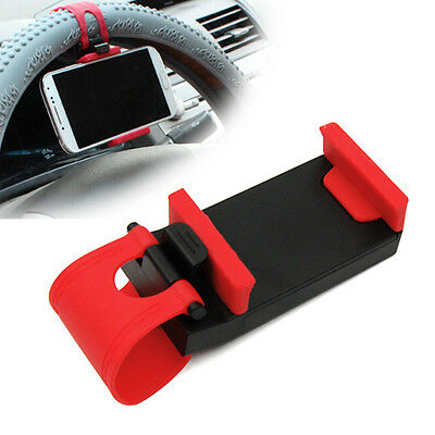Universal Car Steering Wheel Clip Mount Holder Cradle for Mobile Cell Phone GPS